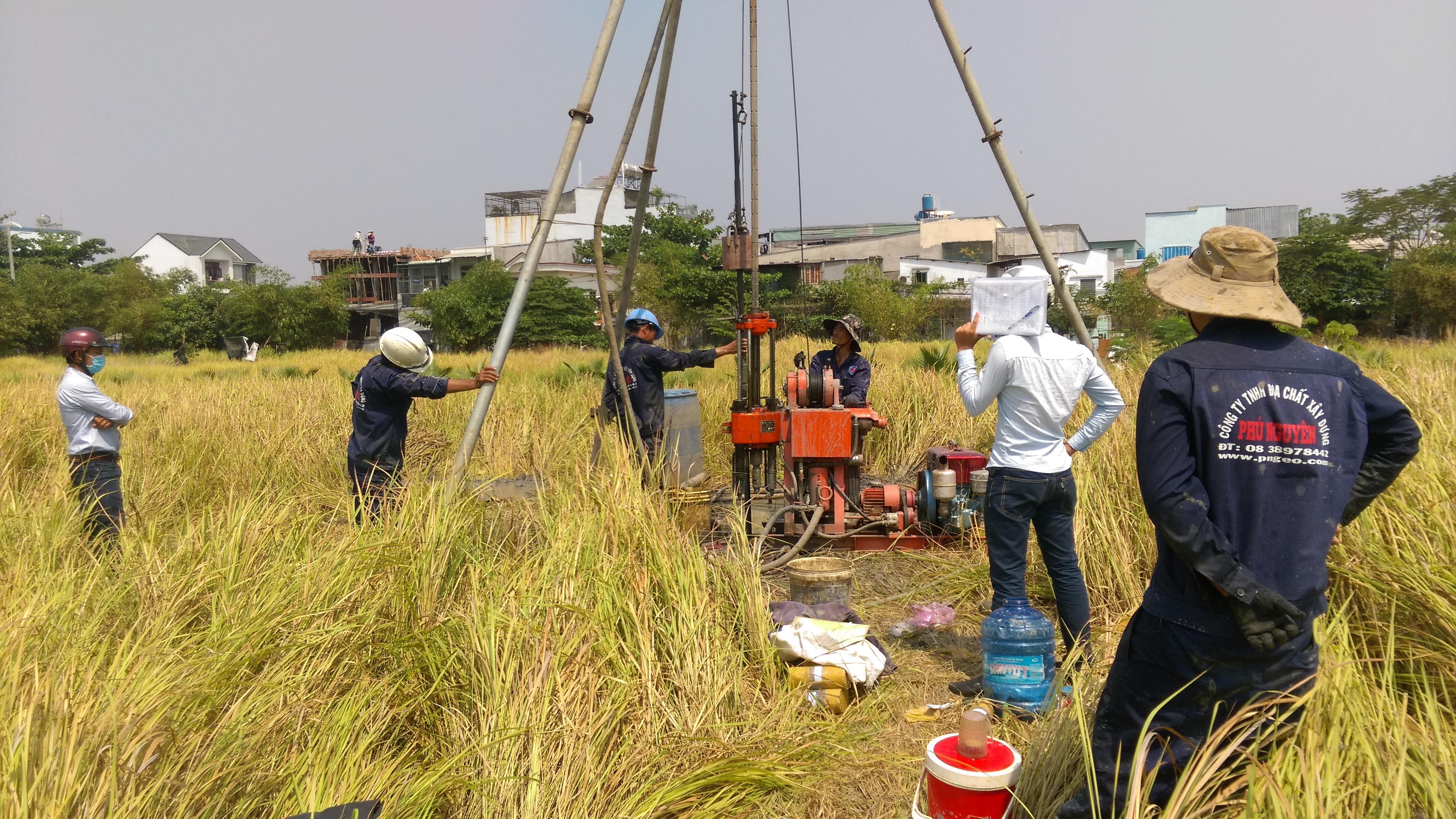 Trường Đại Học Dân Lập Văn Lang - Khảo sát địa chất GĐ2