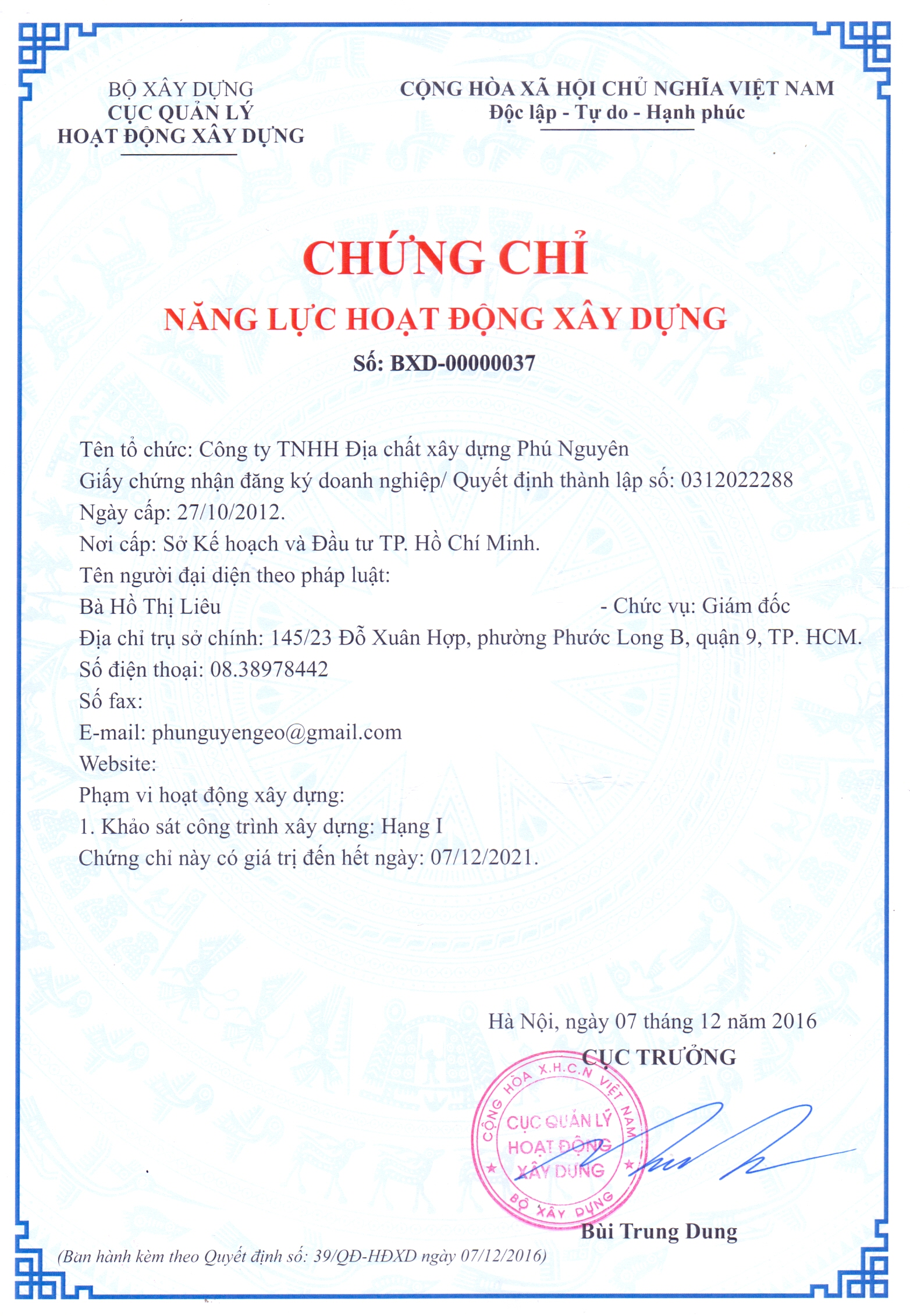Chung chi nang luc khao sat xay dung PNgeo
